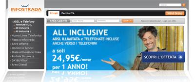 Nuove offerte ADSL e telefonate All Inclusive Infostrada