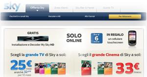 Offerta Sky TV di Marzo 2012