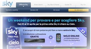 Offerta Sky TV di fine Aprile 2012
