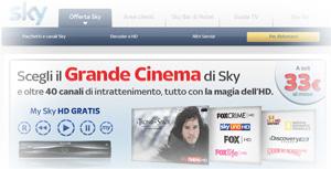 Promozione Sky TV in offerta a Maggio 2012
