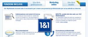 1&1 My Website: gli strumenti per il marketing di un sito Internet aziendale