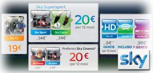 Offerta Sky TV in promozione ad Agosto 2012