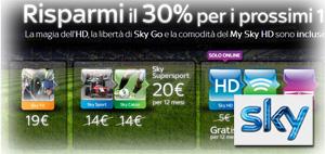 Offerta Sky TV in promozione a Settembre 2012